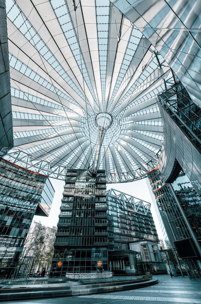 Potsdamer Platz  Sony Center Architecture Highrise Science Fiction Empty Place